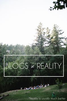Something to remember while you pin and repin: Blogs Aren't Reality, and reality is usually pretty damn awesome. A fabulous photo essay by Maddie.