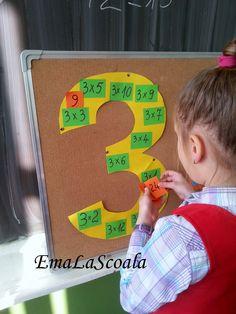 Ema la scoala: Inmultirea - jocuri cu buzunare