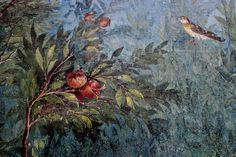 The Painted Garden of the Villa of Livia (detail).