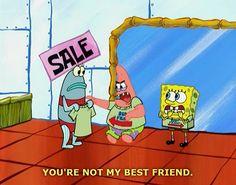 Spongebob - not my best friend! Best Friend T Shirts, My Best Friend, Best Friends, Friends Forever, Funny Pictures With Words, Inspiring Pictures, Funny Photos, Spongebob Patrick, Funny Patrick