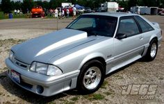Here's a really clean silver fox-body Mustang spotted at National Trail Raceway. What do all of you think?