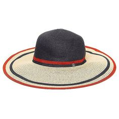 180c951f96e Tommy Hilfiger Straw Floppy Hat (€36) ❤ liked on Polyvore featuring  accessories
