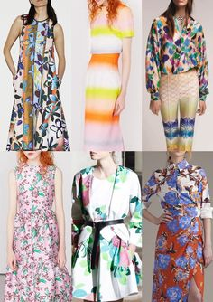 Pre Spring/Summer 2016 Catwalk Print & Pattern Trend Highlights Part 2 - New Colour Combos