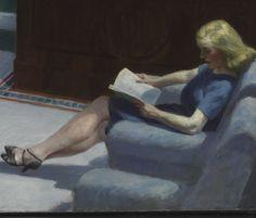 Mulheres de Leitura - books0977: Lobby Hotel (detalhe) 1943. Edward ...