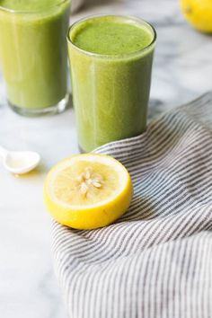 Lemon Jasmine Tea Smoothie | potluck at ohmyveggies.com