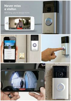 The Ring Doorbell is a WiFi connected video doorbell that allows you to view and even talk to your visitor from anywhere through your smartphone. You can be in your bedroom or you can be half a world away on vacation, sipping your piña colada and you can answer your doorbell just as if you are at home.