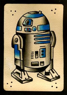 R2D2 Tattoo Flash I want this but say boop before death