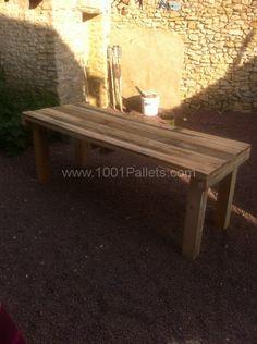 table a manger 597x800 Table à manger / Pallets Table