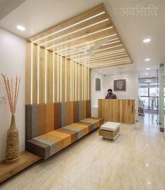 reception waiting area design minimalistic and Simplistic Office Interiors Medical Office Design, Modern Office Design, Modern Interior Design, Interior Architecture, Office Designs, Architecture Layout, Interior Sketch, Interior Design Magazine, Contemporary Interior