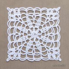 Crochet Granny Square Patterns Crochet lace motifs free patterns by Anabelia Craft Design Crochet Motifs, Granny Square Crochet Pattern, Crochet Squares, Thread Crochet, Crochet Granny, Crochet Lace, Crochet Hooks, Crochet Borders, Crochet Flower