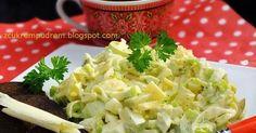 Jedna z najlepszych jakie jedliśmy, do tego szybka i tania, czego chcieć więcej? :) przepis stąd 1 duży por 4 jaja ugotowane na tw... Quinoa, Cabbage, Clean Eating, Food And Drink, Vegetables, Recipes, Drinks, Places, Recipies
