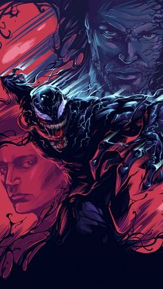 """You are watching the movie Venom on Putlocker HD. When Eddie Brock acquires the powers of a symbiote, he will have to release his alter-ego """"Venom"""" to save his life. Ms Marvel, Marvel Comics, Marvel Venom, Marvel Art, Marvel Heroes, Marvel Avengers, Film Venom, Venom Movie, Art Venom"""