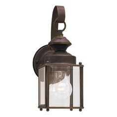 Sea Gull Lighting Jamestowne 11.25-in H Antique Bronze Outdoor Wall Light