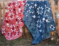 """Taylored Stars Quilt Pattern by Antler Quilt Designs at KayeWood.com. Classic country charm combines with subtle batiks for a quilt with head-turning style!  72"""" x 96"""" quilt top. Use hand-dyed, or batik fabrics to blend beautifully together to create a stunning, star-motif quilt top that demands a closer look. http://www.kayewood.com/item/Taylored_Stars_Quilt_Pattern/3893 $9.00"""