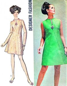 1960s Dress Pattern Simplicity 8537 Mod A Line by paneenjerez, $14.00