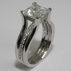 Mark Patterson Princess Cut Engagement Ring. Love the simplicity of the Design.