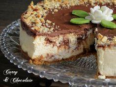 Tarta de queso con bombones Ferrero Rocher y Nutella