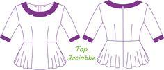 Image of Top Jacinthe - Patron PDF