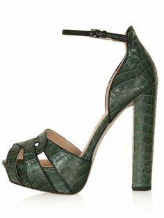 Topshop Lita Croc Heels, $116; topshop.com