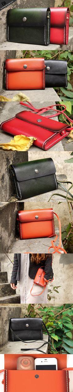 Handmade vintage rustic retro leather crossbody Shoulder Bag for girl   EverHandmade