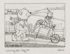 Join me as I sketch for and entire year. whimsy 365 Day: 24 11.02.15