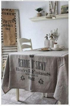 Shabby in love: Burlap e flour sack