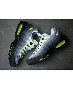 big sale e3418 a6522 Nike Air Max 95 Wolf Grey Green Black Trainers Air Max 95 Green, Cheap Air