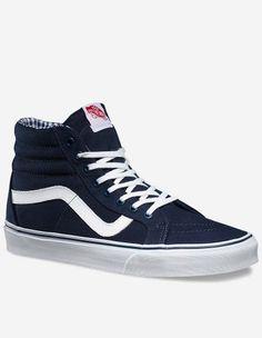 Vans - SK8-Hi Reissue Twill Gingham dress blue true white