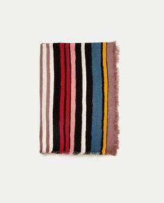 $26 MULTICOLOURED SOFT STRIPED SCARF from Zara
