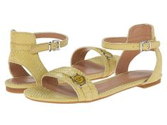 Armani Jeans Armani Jeans  Textured Ankle Strap Sandal Sunflower Womens Sandals for 69.99 at Im in!