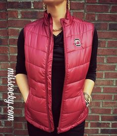 University of South Carolina Cutter & Buck Weather Tec Double Quilted - Miss Cocky #misscocky #gamecocks