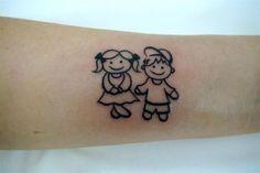 tatuagem menino e menina palito.