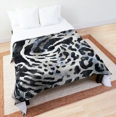 Black and White Zebra and Leopard Animal Print Pattern.Find this Cool and Unique design available in T Shirt, Tote Bag, Hoodie, Tank and more Apparel. Home Decor Stuff like: Poster, Canvas Print, Throw Pillows, Floor Pillow, Duvet Cover, Throw Blanket, Shower Curtain, Comforter, Wall Tapestry and more. Also Phone Case, Laptop Case, Sticker etc. Best Gift Idea for yourself or your Loved ones! #zebra #leopard #print #animal #pattern #skin #comforter #blanket #bedroom #bedding #decoration Floor Pillows, Throw Pillows, White Zebra, Leopard Animal, Watercolor Animals, Wall Tapestry, Comforters, Duvet Covers, Print Patterns
