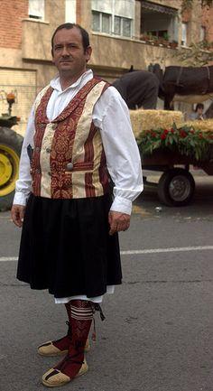 Traje huertano, Huesca
