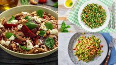 Quinoa Salad, Pasta Salad, Cobb Salad, Feta, Ethnic Recipes, Bulgur, Crab Pasta Salad