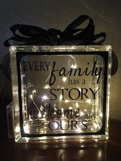 Lighted Glass Block timer battery nightlight by HeartfulThoughts Arts And Crafts For Adults, Diy Arts And Crafts, Hobbies And Crafts, Crafts To Sell, Diy Crafts, Decorative Glass Blocks, Lighted Glass Blocks, Diy Gifts For Kids, Gifts For Family
