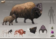 ArtStation - The Crow and the Sheep - Dina Norlund Alien Creatures, Mythical Creatures Art, Mythological Creatures, Magical Creatures, Fantasy Monster, Monster Art, Monster Design, Creature Concept Art, Creature Design