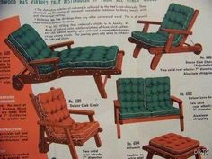 Vintage Redwood Lawn Furniture Probably California Early 1950s