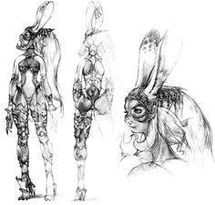 Week 12 - Final Fantasy XII - Concept Art Mon - Fran Sketch