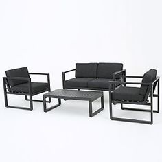 Wright Brothers Marfil 4 Piece Deep Seating Group with Cushion