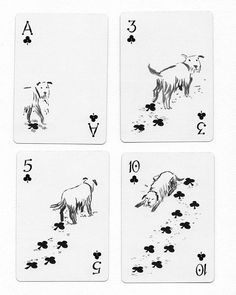 These dog-themed playing cards : DesignPorn Design Fails, Design Ideas, Quelques Photos, Take My Money, Photos Voyages, Tumblr, Badge Design, Aesthetic Design, Victorian Gothic