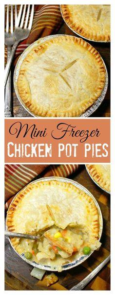 This chicken pot pie recipe is comfort food at it's best.