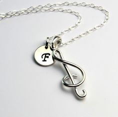 All Sterling Infinity Charm Initial  Necklace, Music Dainty Love Friendship Family Personalized  Initial Jewelry by Beautiful2u on Etsy https://www.etsy.com/listing/125081920/all-sterling-infinity-charm-initial