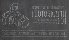 Photography 101 Series with livelaughrowe.com #photography #camera