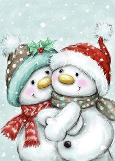 Christmas Scenes, Christmas Pictures, Christmas Snowman, Christmas Time, Merry Christmas, Christmas Ornaments, Xmas, Christmas Drawing, Christmas Paintings