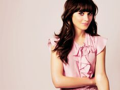 Zooey Deschanel  Love her! now that my hair is dark I'm thinking this will be the next look for me.