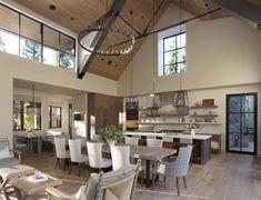 Lot 624 — Jim Morrison Construction - California Custom Home Builder Mountain Home Exterior, Modern Mountain Home, Mountain House Plans, Mountain Homes, Custom Home Builders, Custom Homes, Bergen, Clad Home, The Ranch