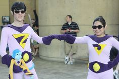 The Wonder Twins, photo by FirstPersonShooter. Dc Cosplay, Best Cosplay, Wonder Twins, Super Hero Costumes, Wow Products, Comic Books Art, Dress Up, Sporty, Poses