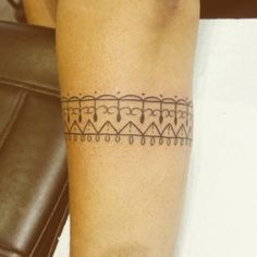 Forearm band tattoo by André de Camargo