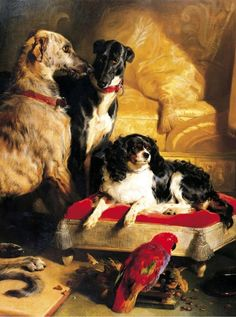 "animals-in-art: "" Sir Edwin Henry Landseer (English, - Queen Victoria's favorite pets "" King Charles Dog, King Charles Spaniel, King Henry, Henry Viii, Asian History, Art History, Tudor History, British History, History Facts"